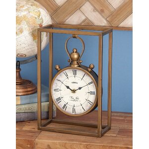 Amsterdam Metal Table Clock