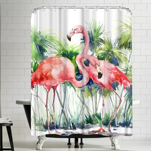 Suren Nersisyan Flamingos III Single Shower Curtain