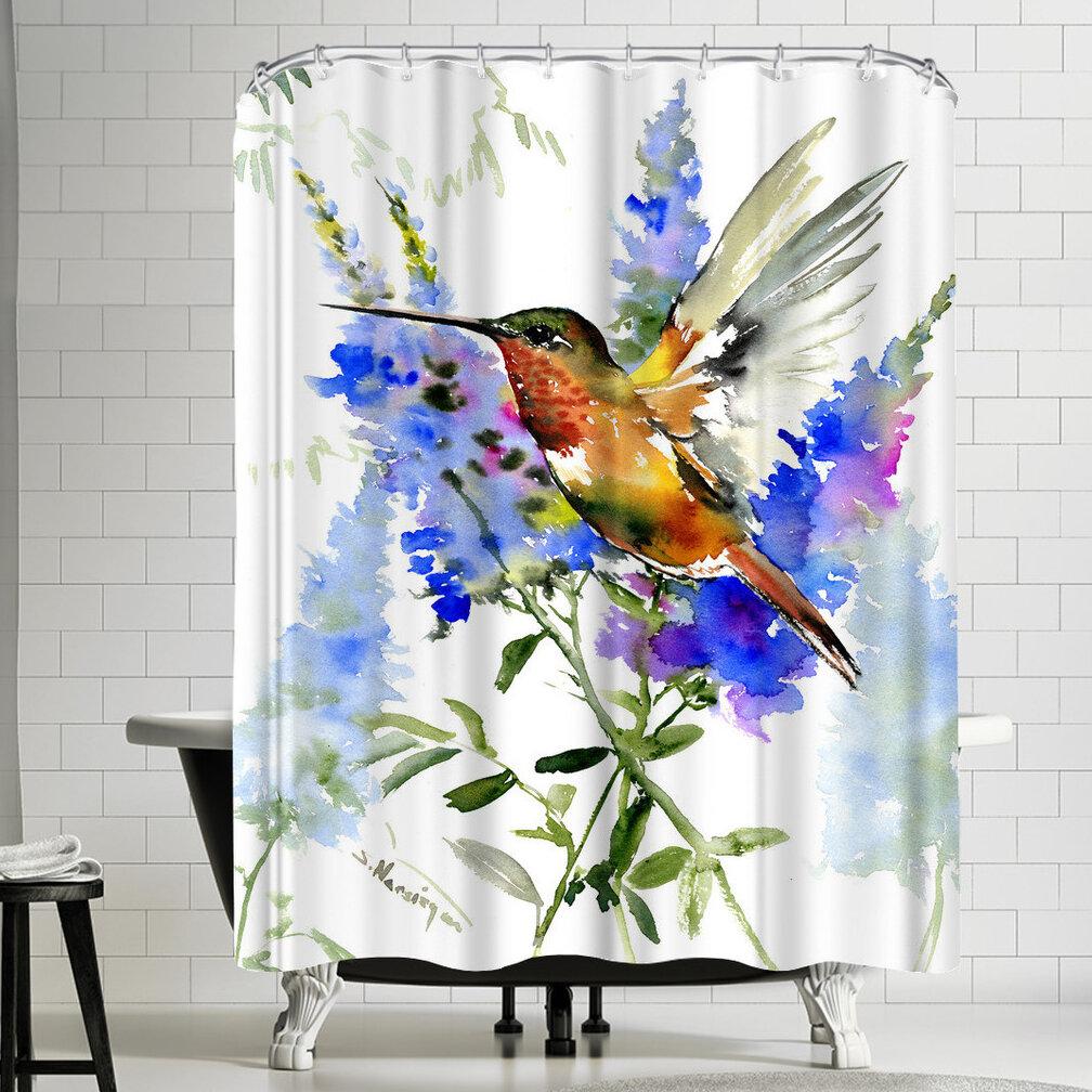East Urban Home Suren Nersisyan Alens Hummingbird Single Shower Curtain Reviews Wayfair