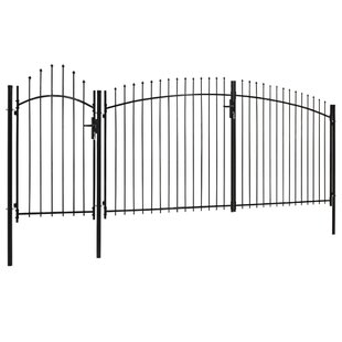 Merna Garden With Arched Top 8' X 16' (2.45m X 5m) Metal Gate By Sol 72 Outdoor