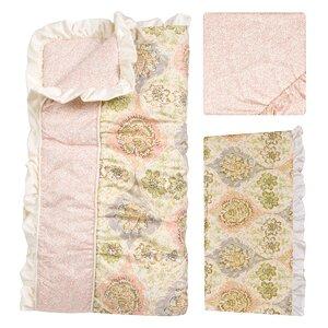 Rosewater Glam 3 Piece Crib Bedding Set