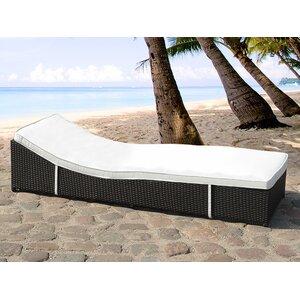Garden Sun Lounger with Cushion