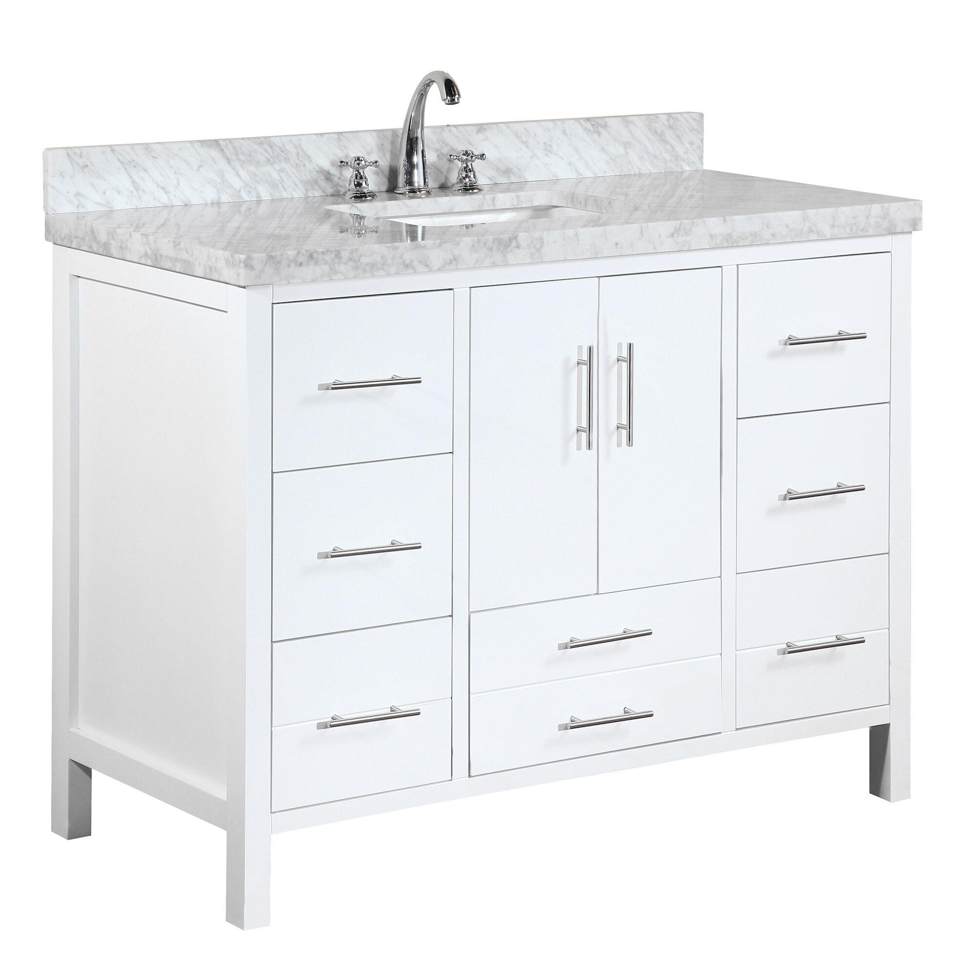 KBC California Single Bathroom Vanity Set Reviews Wayfair - Bathroom vanities northridge ca