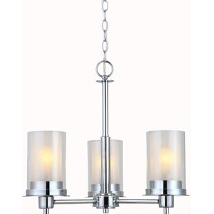 Ebern Designs Bethea 3-Light Shaded Chandelier