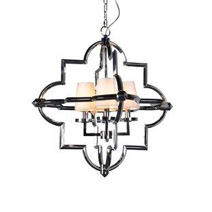 Everly Quinn Leda 4-Light Geometric Chandelier