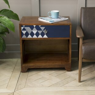 Mellal 1 Drawer Bedside Table By World Menagerie