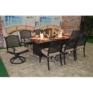 Darby Home Co Wes 9 Piece Sunbrella Dining Set with Cushions