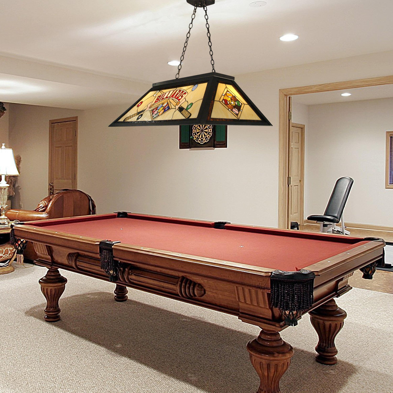 Game Room Industrial Metal Billiard Light Balls Pool Table Glass Lamp Fixture US