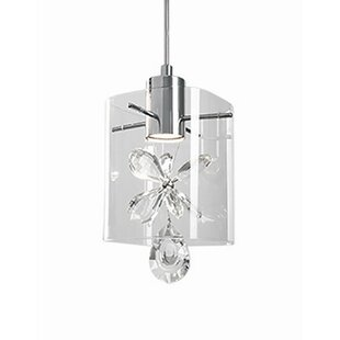 Flora 1-Light Square/Rectangle Pendant by Radionic Hi Tech