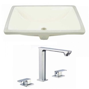 Where buy  CUPC Ceramic Rectangular Undermount Bathroom Sink with Faucet and Overflow ByAmerican Imaginations