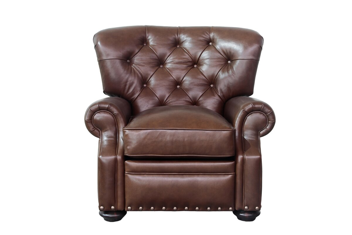 Sinclair Leather Manual Recliner