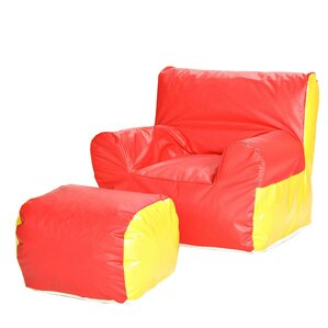Soft-E Kids Club Chair and Ottoman by Foamnasium