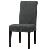 Peawdub Seersucker Elegant Box Cushion Dining Chair Slipcover (Set of 4) by Winston Porter