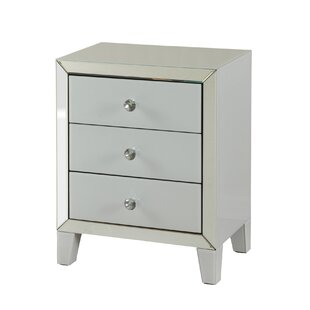 Monte Beveled 3 Drawer Accent Cabinet by House of Hampton