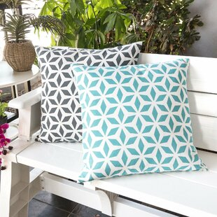 Breault Diamond Burst Outdoor Throw Pillow by Winston Porter