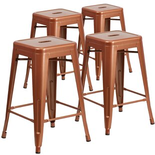 Hadsell 24 Bar Stool (Set of 4) by Brayden Studio