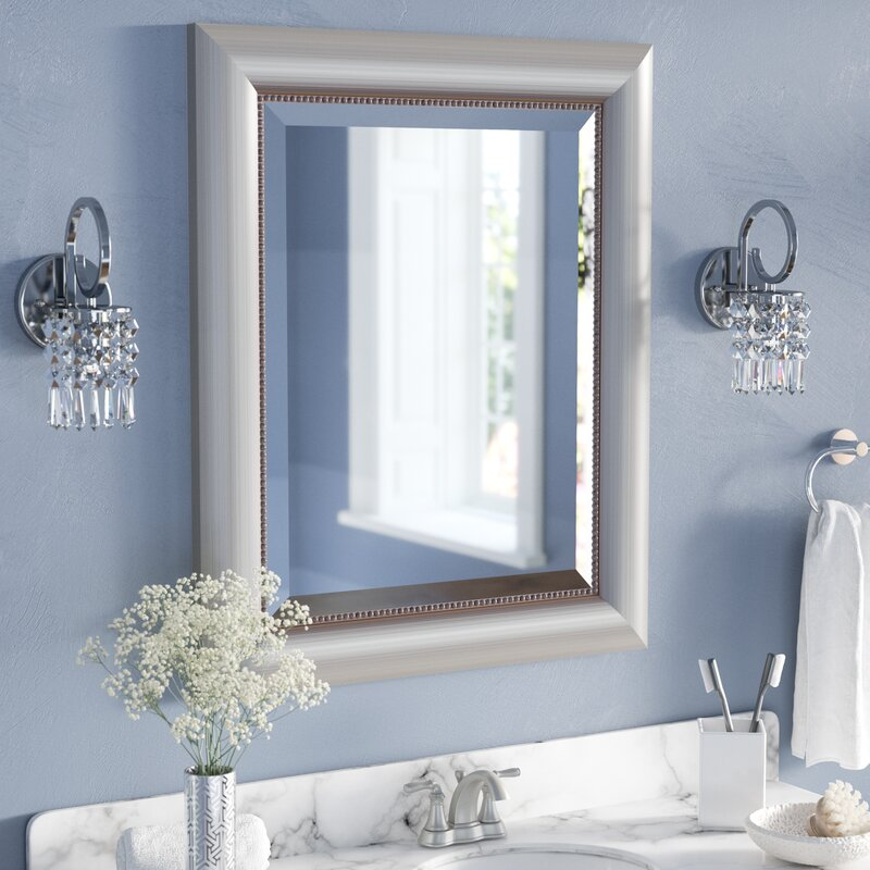 Rectangle Curved Silver Bathroom Wall Mirror Reviews