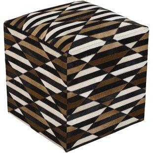Bloomsbury Market Maureen Leather Cube Ottoman