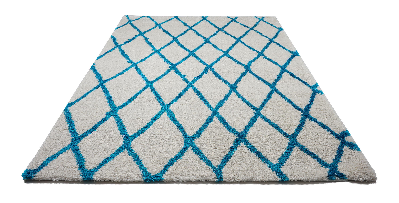 Brayden Studio Lomax Geometric Gray Turquoise Area Rug Wayfair
