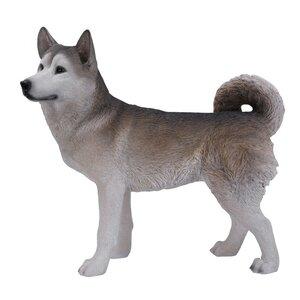 Siberian Husky Dog Statue