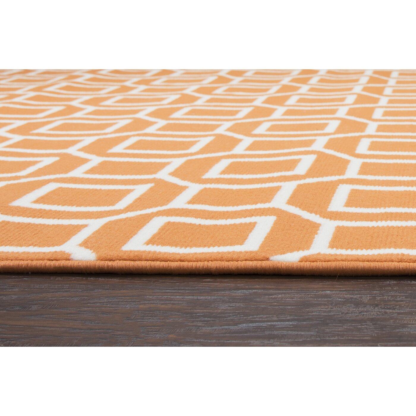 Julian orange indoor outdoor area rug reviews birch lane - Moderne trappenhelling ...