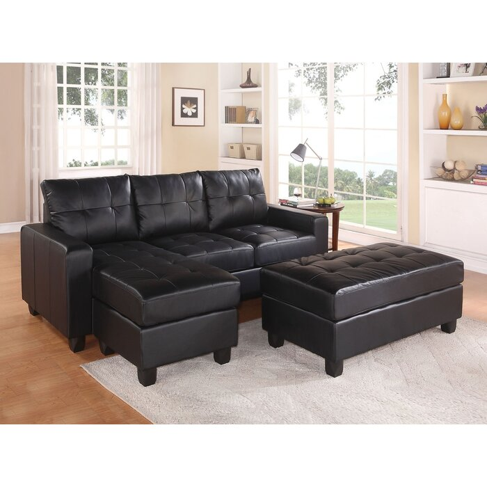 Swell Baysview Reversible Sectional With Ottoman Onthecornerstone Fun Painted Chair Ideas Images Onthecornerstoneorg