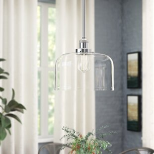 Che 1-Light Bell Pendant by 17 Stories