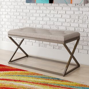West Side Upholstered Bench By Mercury Row