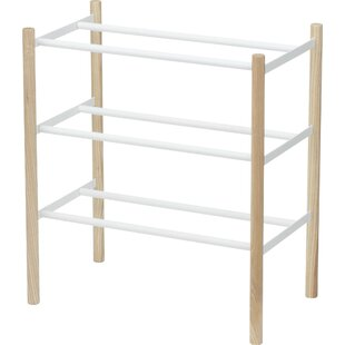 Reviews Expandable 16 Pair Shoe Rack By Wrought Studio