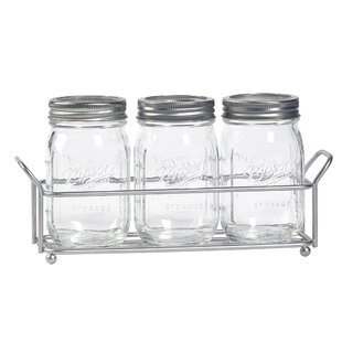Glass 4 Piece Flatware Caddy
