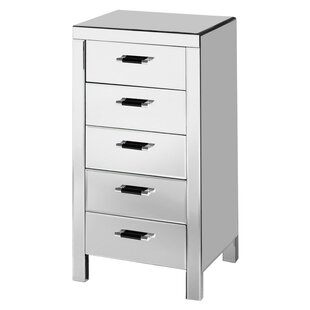 Vincenzo 5 Drawer Chest Of Drawers By Wade Logan
