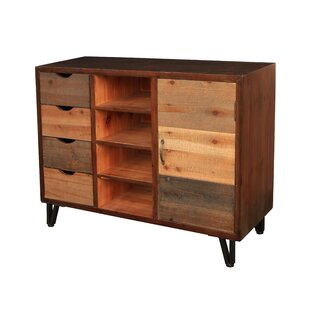 4 Drawer, Center 4 Slot Organizer with Shelf Accent Cabinet by Cheungs