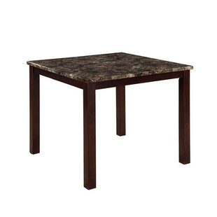 Colette Square Faux Marble Top Counter Height Dining Table by Fleur De Lis Living Findt