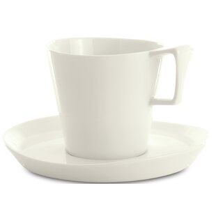 Eclipse Breakfast Coffee Cup and Saucer (Set of 2)