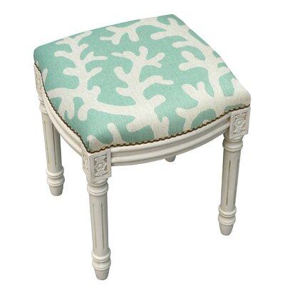 Astounding Rosecliff Heights Colleton Linen Upholstered Vanity Stool Machost Co Dining Chair Design Ideas Machostcouk