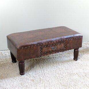 Astoria Grand Stone Castle Faux Leather Bench
