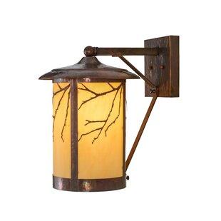 Affordable Greenbriar Oak 1-Light Outdoor Wall Lantern By Meyda Tiffany