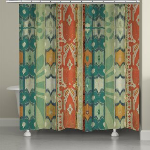 Ikat Bloom Single Shower Curtain