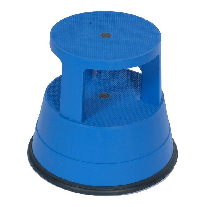 rolling steel h stool gy vestil gray step
