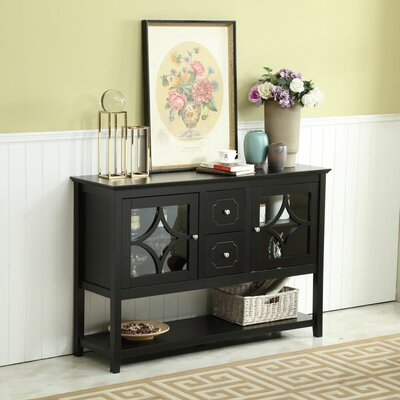 """Red Barrel Studio Lithium 51.8"""" Wide 2 Drawer Buffet Table"""