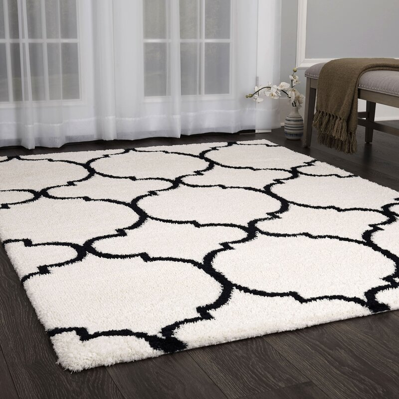 House of Hampton Michel Trellis Shag Rug 9'x12'  Item# 11734