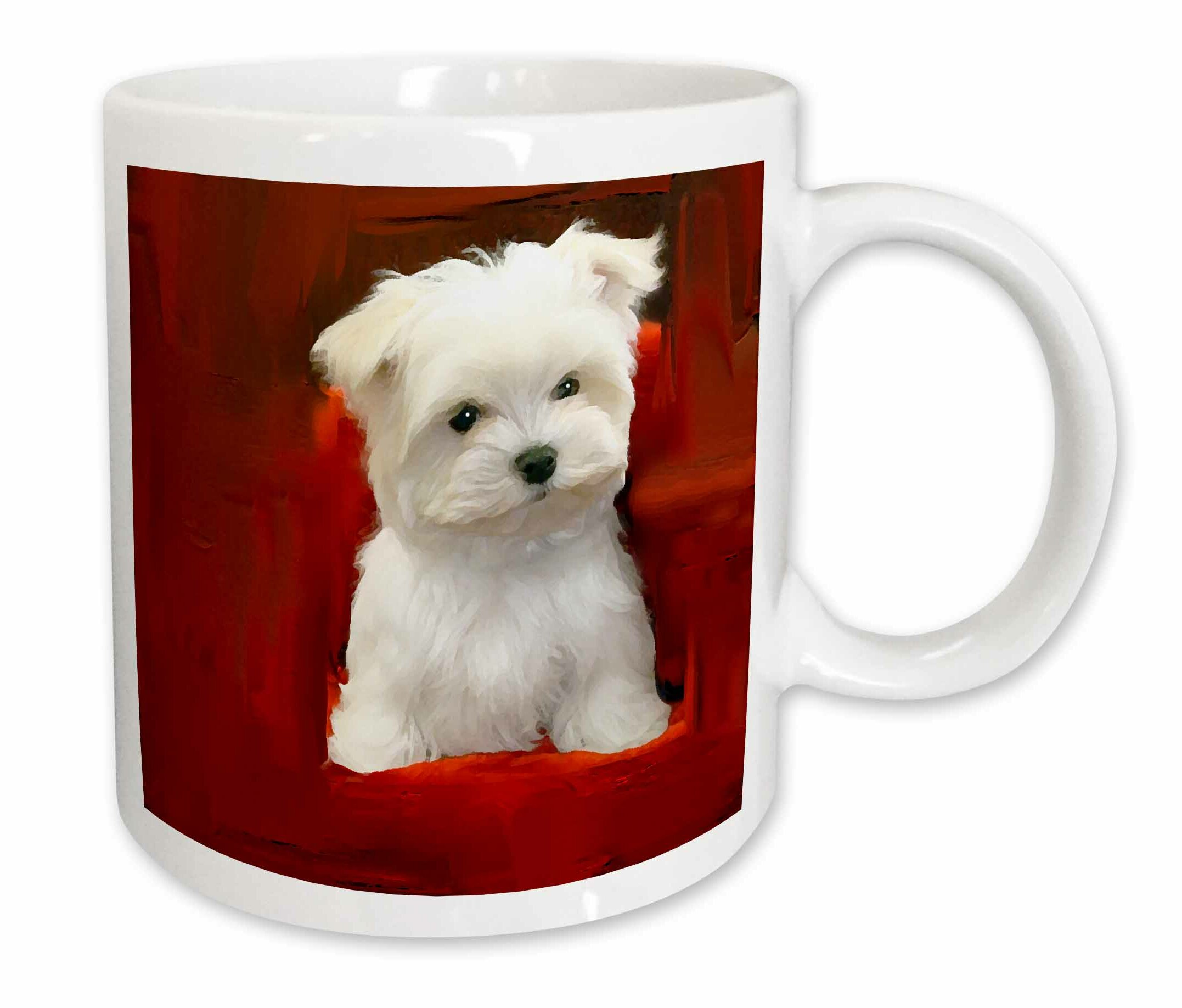 East Urban Home Maltese Puppy Coffee Mug