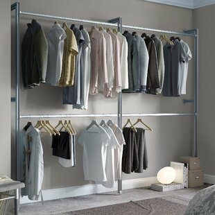 Clothes hanging rails wayfair relax 233cm wide clothes storage system sisterspd