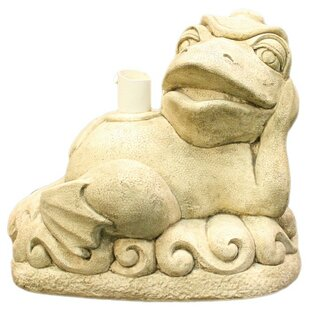 Reclining Frog Patio Umbrella Stand