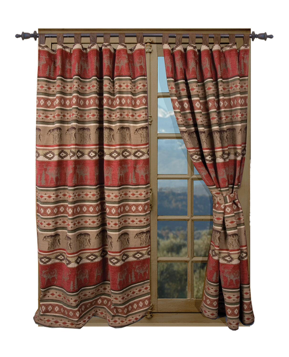 Log Cabin Rustic Curtains Wayfair