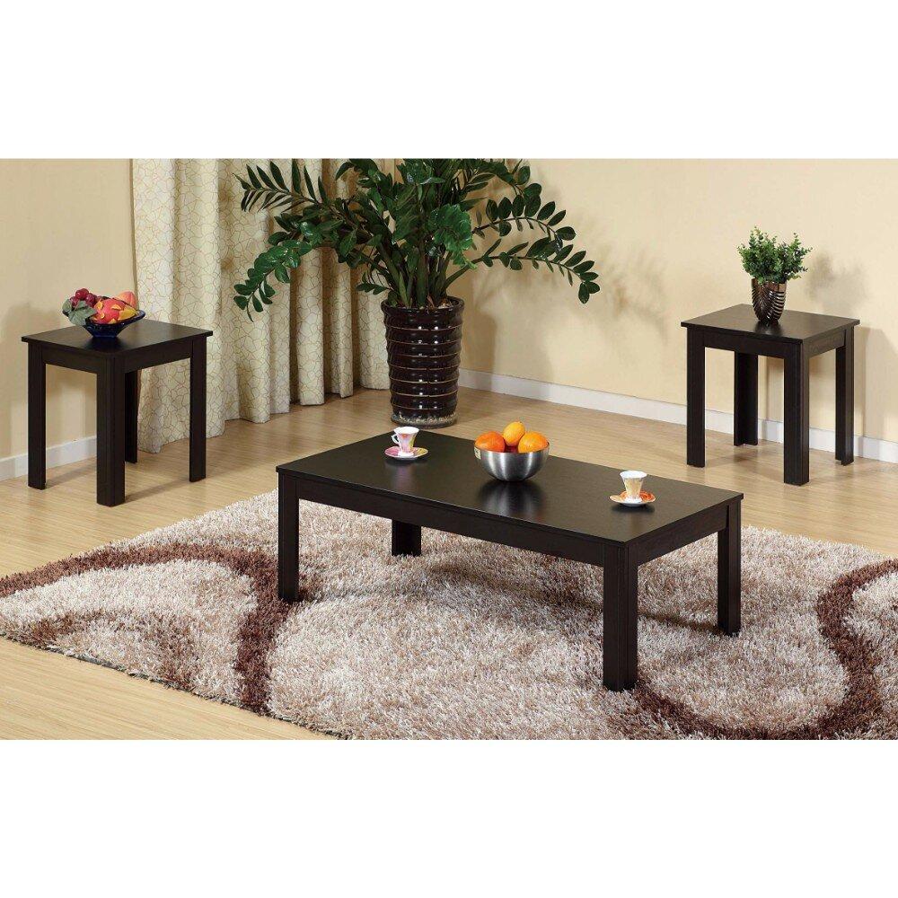 Winston porter chatsworth sleek contemporary 3 piece coffee table set wayfair