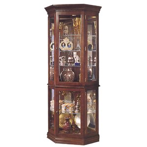 Pasadera Lighted Corner Curio Cabinet by ..