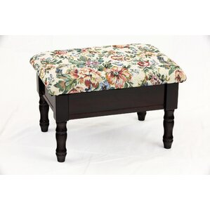 Cleo Queen Anne Style Storage Ottoman by Aug..