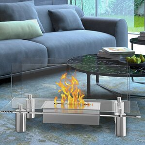 Alisha Ventless Free Standing Ethanol Fireplace by Orren Ellis