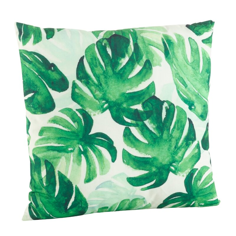 Sherwick Palm Leaf Print Indoor Outdoor Throw Pillow Reviews Joss Main